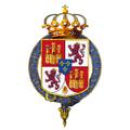 Gartered arms of Ferdinand VII, King of Spain.png