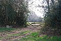 Gate by the footpath east of Marklye Lane - geograph.org.uk - 1251864.jpg