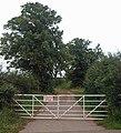 Gate to Broad Balk Lane Hooton Pagnell - geograph.org.uk - 924608.jpg
