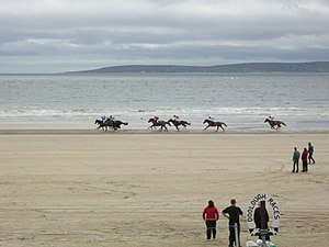 Horseracing in Ireland - Horse racing on Doolough Beach, County Mayo as part of the Geesala Festival