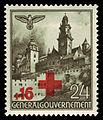 Generalgouvernement 1940 53 Rotes Kreuz, Burg Wawel in Krakau.jpg
