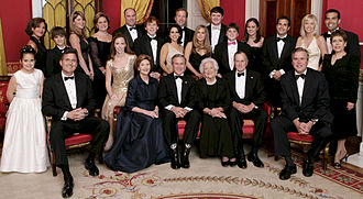 Bush family - Image: George W. Bush and family