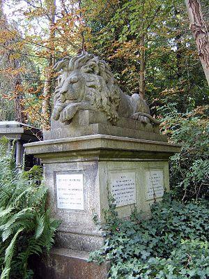 George Wombwell - George Wombwell's tomb, Highgate Cemetery