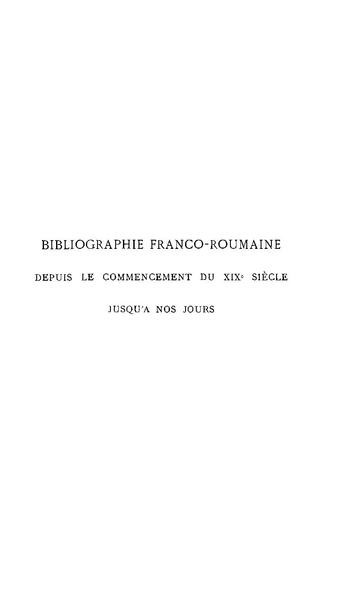 File:Gheorghe Bengescu - Bibliographie franco-roumaine depuis le commencement du XIXe siècle jusqu'à nos jours.pdf
