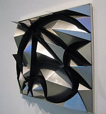 Giacomo Balla, Sculptural Construction of Noise and Speed (1914-1915, reconstructed 1968).jpg