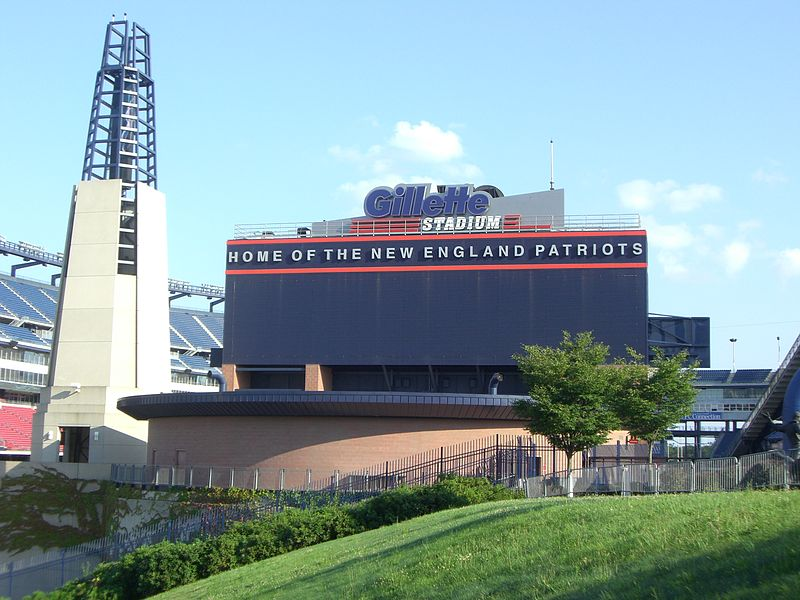 File:Gillette Stadium Patriots Home Sign.JPG