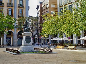 Battle of Gerona (1808) - Independence Square in Girona commemorates the struggle against the French from 1808 to 1814.