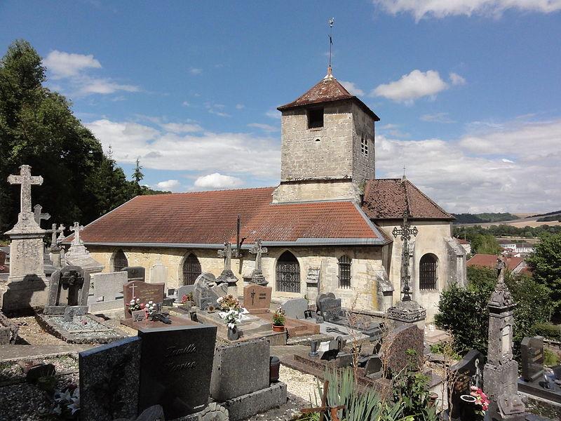 Givrauval (Meuse) église Saint Quentin et cimetière