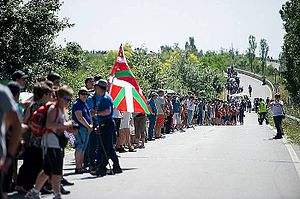 Self-determination - 2014 human chain for Basque Country's right to decide