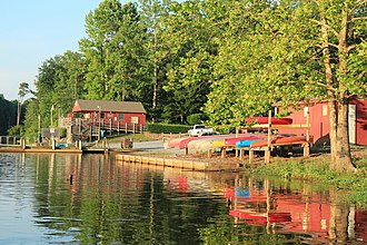 Gloucester County, Virginia - Beaverdam Park headquarters and boat launch.