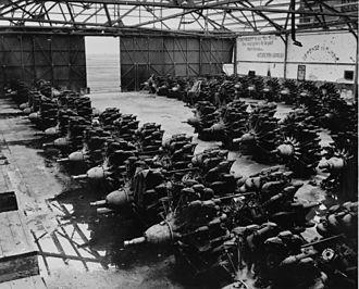Gnome-Rhône Mistral Major - Gnome-Rhône 14Ks in a hangar in North Africa, 1943