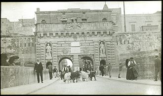 Fortifications of Valletta - Porta Reale, constructed in 1853 and demolished in 1963