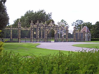Davies brothers of Bersham - Image: Golden Gates at Eaton Hall Cheshire