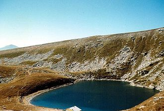Geography of North Macedonia - Golemo Ezero, glacial lake located at 2218 m altitude in the Pelister mountains