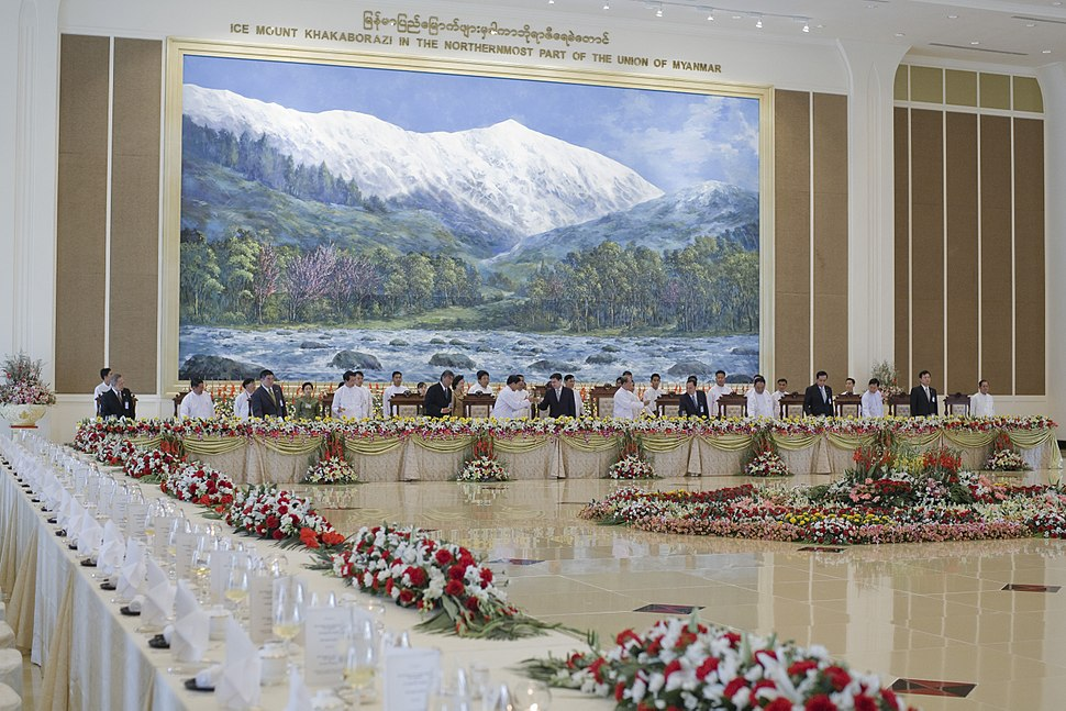 Government luncheon reception in Naypyidaw