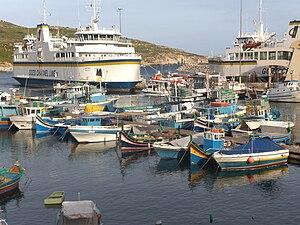 Gozo Channel Line - MV Ta' Pinu at Mġarr