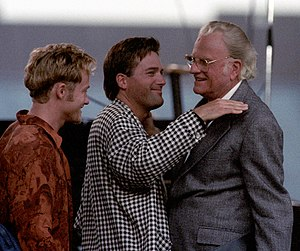 Michael W. Smith - Michael W. Smith and Toby Mac with evangelist Billy Graham in 1994