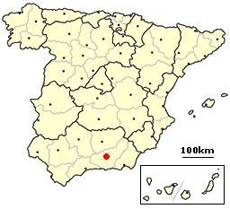 Granada, Spain location