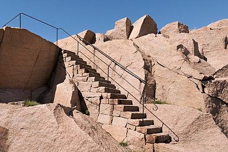 Granite stairs in Stångehuvud reserve