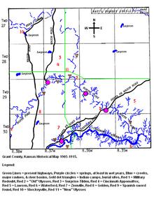 Grant county kansas wikipedia grant county kansas historical map 1905 1915 sciox Gallery