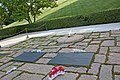 Graves of John F., Jackie and Patrick Kennedy in Arlington National Cemetery.jpg