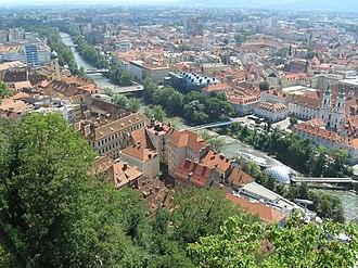 Mur (river) - The Mur in Graz