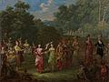 Griekse mannen en vrouwen dansen de khorra Rijksmuseum SK-A-2009.jpeg