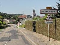 Grimaucourt-près-Sampigny (Meuse) city limit sign.jpg