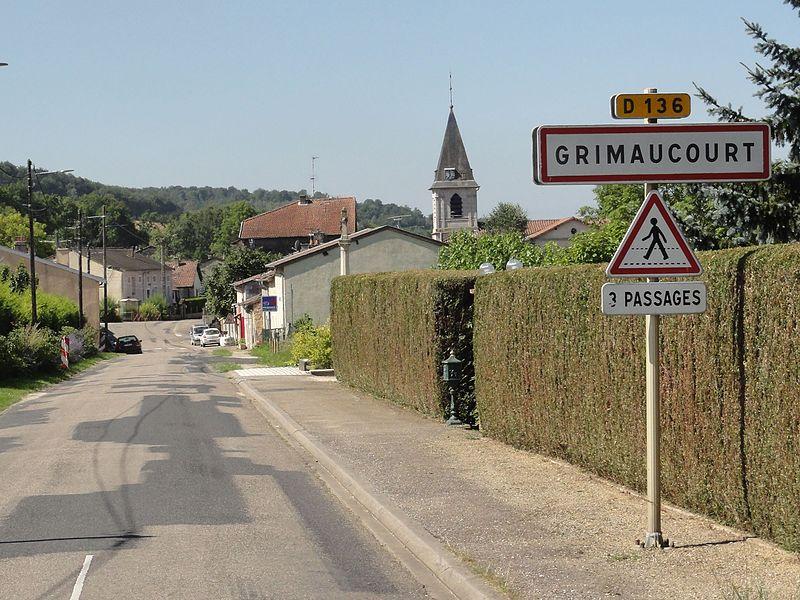 Grimaucourt-près-Sampigny (Meuse) city limit sign