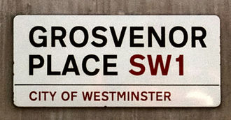 Grosvenor Place - Grosvenor Place street sign