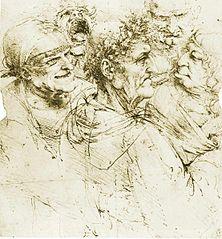 Grotesken-Zeichnungen von Leonardo da Vinici