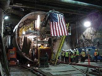 """Central Subway - TBM """"Mom Chung"""" prepares for launch, May 2013"""
