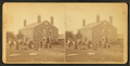 Group of people in front of a House, from Robert N. Dennis collection of stereoscopic views.png