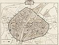 Guillot - Le dit des rues de Paris (1300), préface, notes et glossaire de Mareuse, 1875, plan.jpg
