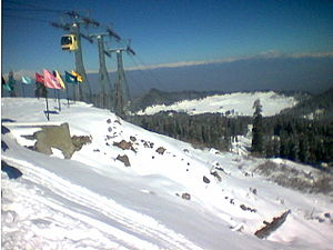 Commonwealth Winter Games - Image: Gulmarg kashmir winter 2004