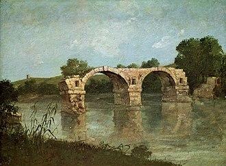 Pont Ambroix - Image: Gustave Courbet, 1857, Le Pont d'Ambrussum, huile sur papier marouflé sur bois, 48 x 63 cm, Musée Fabre