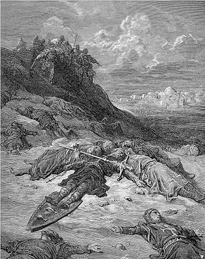 "Military history of Germany - ""Death of Frederick of Germany"" by Gustav Dore"