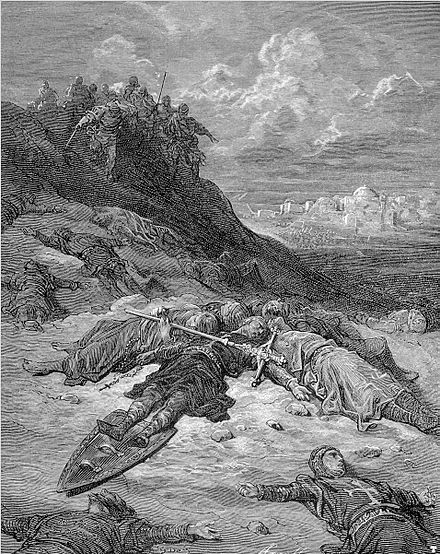 """Death of Frederick of Germany"" by Gustave Dore Gustave dore crusades death of frederick of germany.jpg"