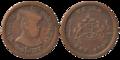 Gwalior - Five Anna - Madhavrao Shinde - 1974 BS Copper - Kolkata 2016-06-29 5369-5370.png
