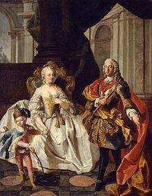 Maria Theresia mit Franz Stephan und Joseph (Franz Xaver Karl Palko, 1747) (Quelle: Wikimedia)