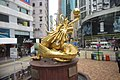 HK 灣仔 Wan Chai 摩理臣山道 Morrison Hill Road golden Dragon statue Feb-2018 IX1.jpg