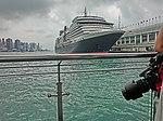 HK TST Ocean Terminal Piers Victoria Harbour parking Cunard Line Queen Victoria camera Len 19-Mar-2013.JPG