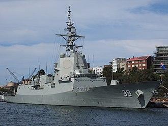 Hobart-class destroyer - Image: HMAS Hobart December 2017