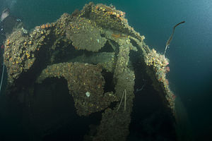 HMAS Perth (D29) - A photograph taken of the wreck of Perth during the 2015 United States-Indonesia survey