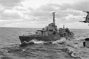 HMCS Athabaskan (R79) - Image: HMCS Athabaskan AWM P05890.060