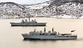 HMS Illustrious and HMS Bulwark off Norway MOD 45153814.jpg