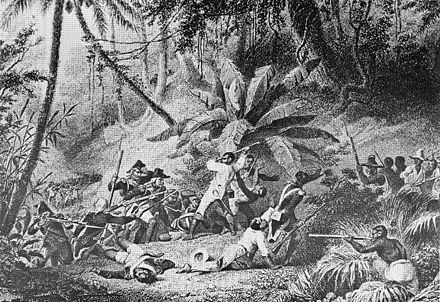 "Battle at ""Snake Gully"" in 1802 Haitian revolution.jpg"
