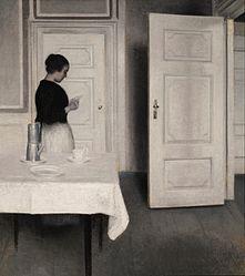 Vilhelm Hammershøi: Ida Reading a Letter