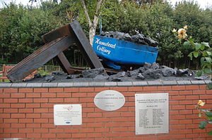 Hamstead Colliery - The memorial in September 2014