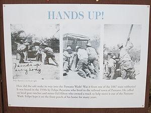 Pantano, Arizona - Image: Hands Up! Old Vail Post Office Pantano Safe Arizona 2014